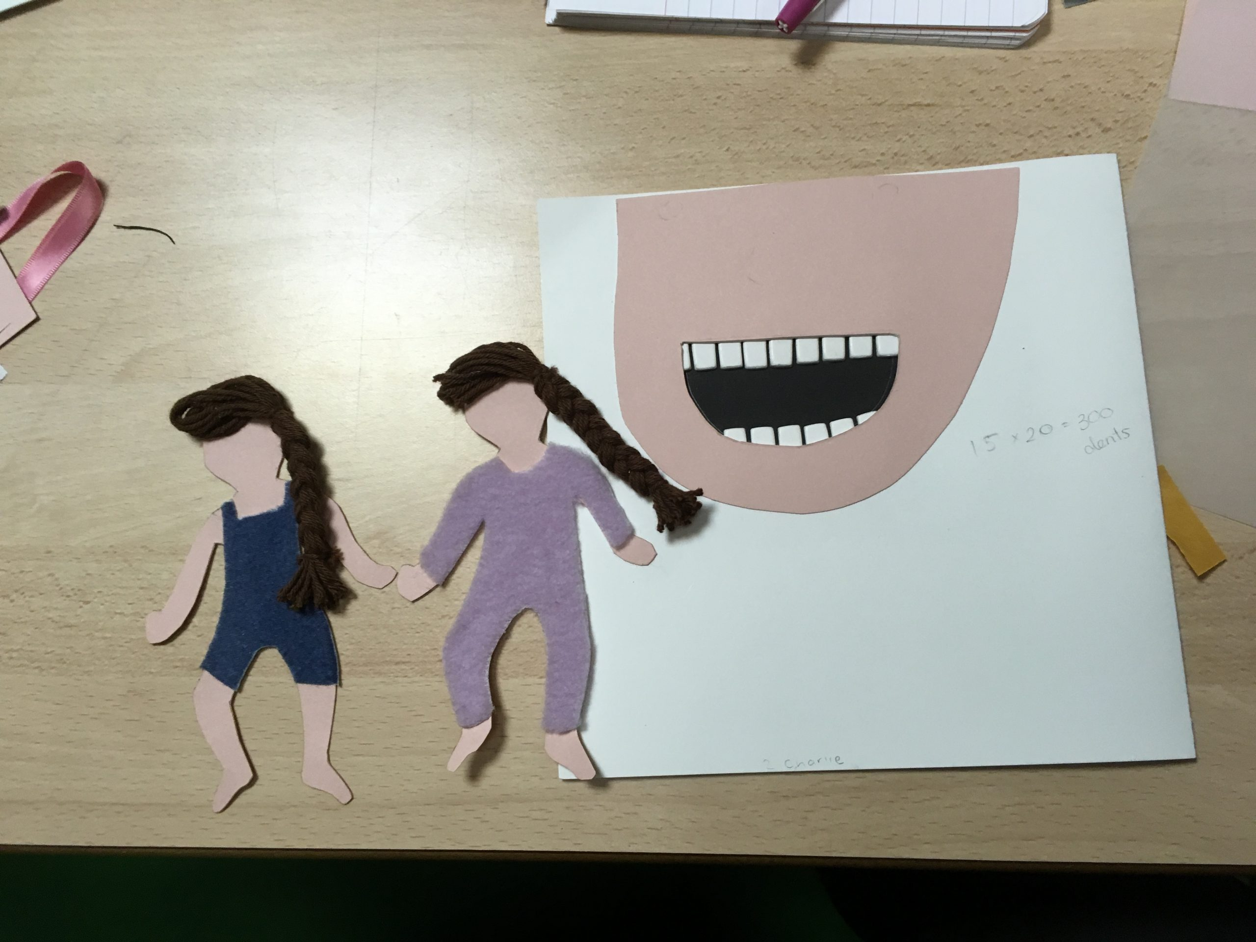 photo de deux figurines tactiles réalisées en formation