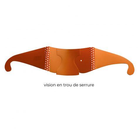 Lunettes de simulation vision en trou de serrure