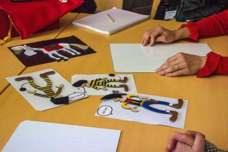 Atelier de sensibilisation avec le coffret Tacti Paf