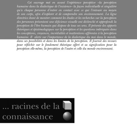 """Couverture du titre """"Percevoir, racines de la connaissance"""