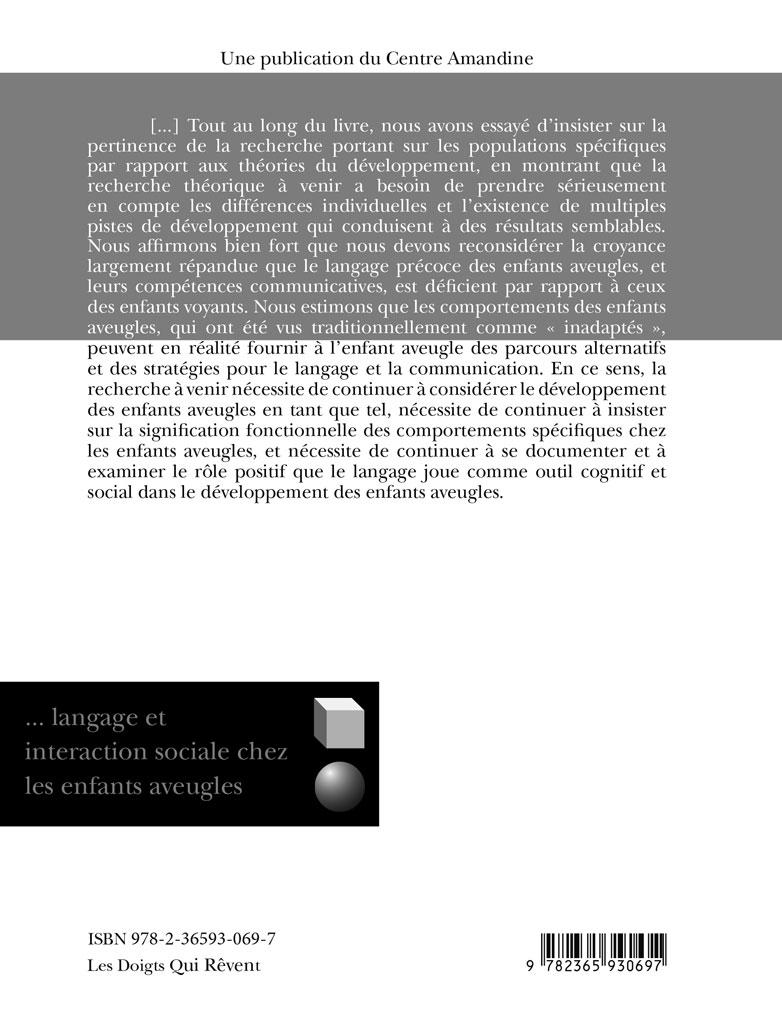 Developpement Du Langage Et Interaction Sociale Chez Les Enfants Aveugles Les Doigts Qui Revent
