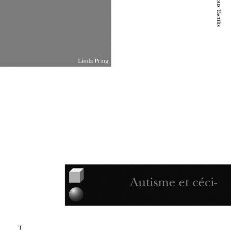 """Couverture du titre """"Autisme et cécité"""""""