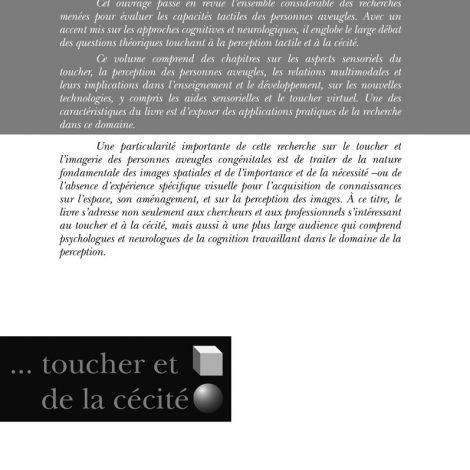 """Couverture du titre """"Psychologie du toucher et de la cécité"""""""