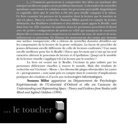 """Couverture du titre """"Lire par le toucher"""""""