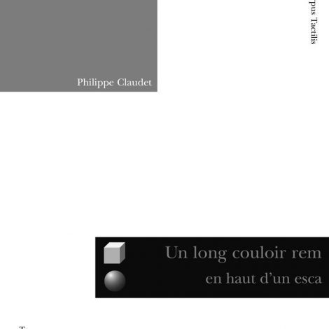 "Couverture du titre ""Un long couloir..."""
