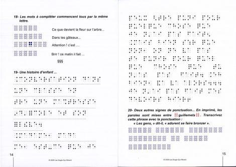 Pges intérieures du titre Yes you canne... apprendre le braille