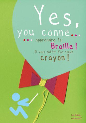 Couverture de Yes you canne... Apprendre le braille