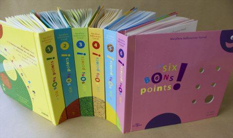 Couvertures des 6 volumes de 6 bons points