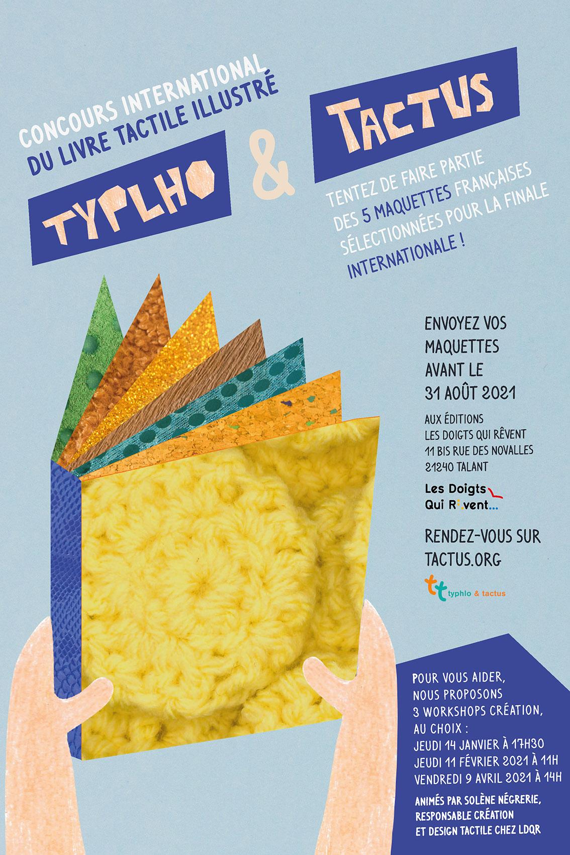 Affiche 15e édition du concours Typhlo&Tactus