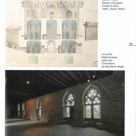 page extraite du livret d'accompagnement représentant une coupe de la porte Narbonnaise et une photo