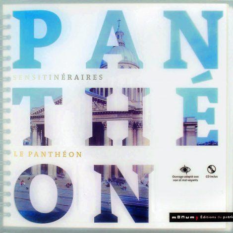 """couverture avec une photo du panthéon à découvrir à travers les lettres du titre """"panthéon"""""""