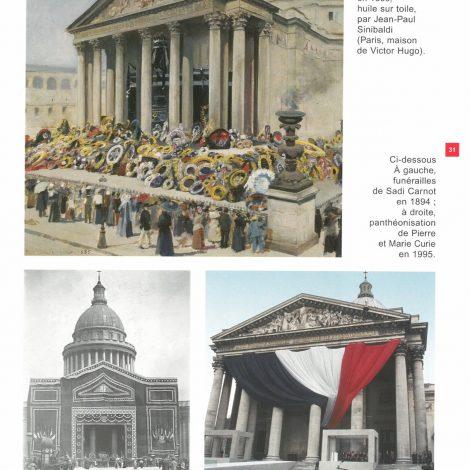 page extraite du livret d'accompagnement représentant la face du panthéon