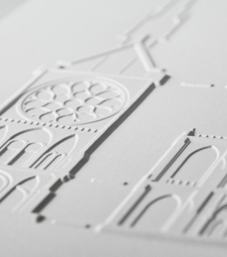 photo détail illustration tactile de la saint chapelle