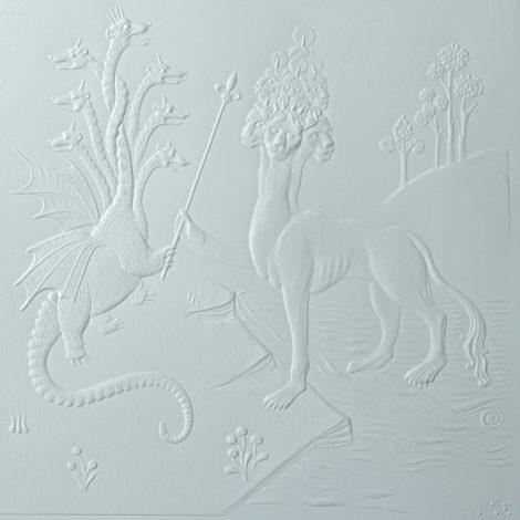 photo détails illustration tactile représentant des animaux fantastiques