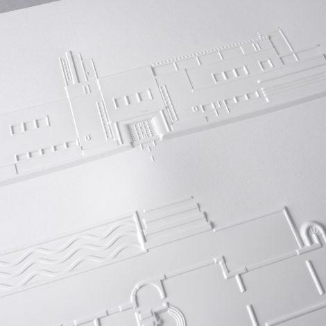 photo détails illustration tactile représentant la façade et une partie du jardin
