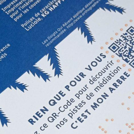 braille orangé et partie du QR code qui renvoie vers la fiche animation